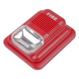 Manufacturer 12V alarm siren strobe light and siren for Fire alarm equipement 24VDC red conventional