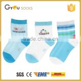 100% organic cotton kids sock with diffirent pattern, baby socks