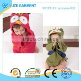 cotton lovely babe owl bath robe with belts by factory price                                                                         Quality Choice
