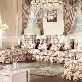 Inquiry about Golden quality modern fabric sofa for sale floral sofa four seat sofa