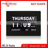Hot sell High definition digital big screen day date time calendar clock for elder