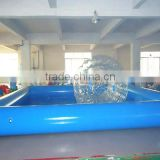 0.9mm PVC tarpaulin Inflatable Swimming Pools for rental business / advertisement