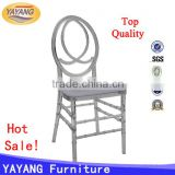 Modern clear commercial dining room synthetic leather stacking plastic resin phoenix chair with cushion in hotel furniture