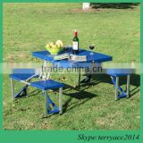 High quality Collapsible Folding High Impact Plastic Picnic Table with Comfortable Chairs Built-in