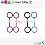 Cheap Sex SM Toy Colored Silicone Rubber Handcuff