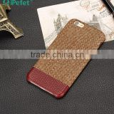 Leather back cover case mobile phone leather case for iPhone 6 case                                                                         Quality Choice