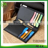 Men Black Business Leather Wallet Pocket Card Holder Clutch Bifold Slim Purse