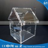 Fashion Clear Acrylic House Money Savings Petty Cash Box Piggy Bank Made In China