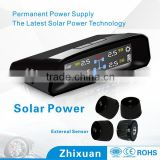 Factory supply easy DIY wireless solar car tpms with external sensors