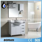 2015 design floor standing pvc bathroom wash basin cabinet