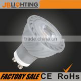 LED spotlight COB lighting GU10 5W 420lm 3000-7000K IC driver silver housing CE ROHS approved