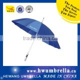 Aluminum Shaft Silver Coated Handle Auto Open Straight Golf Umbrella