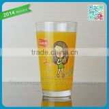 Famous Brand Beverage Pint Glass Cup Cold Juice Drinking Glass Pint Cup Funny Logo Drinking Orange Juice Pint Cup of Glasses