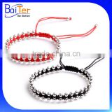 Adjustable 925 Sterling Silver Kabbalah Red String Couple Bracelet Wholesale