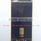 For iPhone 5 s leather housing gold plating with leather back cover for iphone 5s leather cover