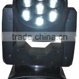 professional led light dmx 7pcs 12W RGBW 4IN1 Zoom Led Moving Head Light Effect DMX 16CH with led display