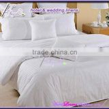 1cm stripe hotel bed linens, 100% cotton, soft and natural hotel bed linens for hotels, motels, hospitals, clubs