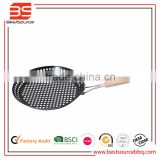 Bottom Price Carbon Steel Non-stick BBQ Grill Roasting Pan With Holes For Gas Barbecue Grill