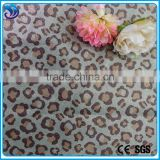 polyester woven peach skin plain dyed with printing and gold hot stamping foil for clothing