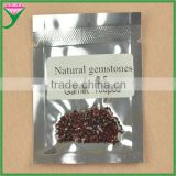 china wholesale price 2.5mm small round shape natural fire red garnet semi precious stone