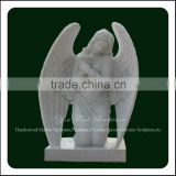 Hand Carved Kneeling Marble Angel Headstone