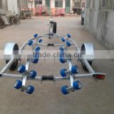 5m high qulity inflate boat trailer with spare tire