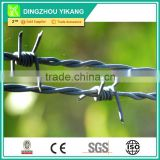 electro-galvanized barded wire with twisted point two strands