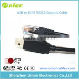 6 Ft FTDI USB to RJ45 for Cisco Console Cable Windows 8, 7, Vista MAC Linux RS232