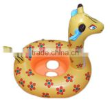giraffe Inflatable Baby Child Safety Seat Float Ring Raft Chair