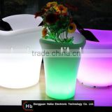 haiba Recyclable rotational molded led lighting flower pot garden planter led lighting plastic planter light up flower pot