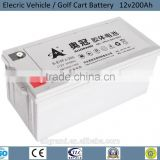 12v200Ah Electric Car battery / E-car Battery / Golf Cart battery / e-wheelchair battery 3hr