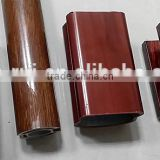 6063 T5 aluminium wood grain finish/wood colour aluminium profile for curtain wall/window&door frame /furniture/handrail                                                                         Quality Choice