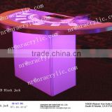 led acrylic furniture bar table event casino table for sale