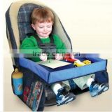 Foldable Polyester Car Kids Travel Play Tray Bag/Childrens Travel Tray Kids Play Tray for Snacks