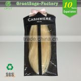 Custom pvc hair extensions carrier hair extension hanger bags