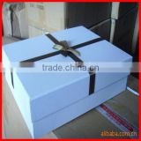 lovely panton color packaging box with black cute ribbon wedding dress