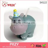 S4122 PRZY Craft candle mold candle silicone mold of a hippo cake decoration party supplies party supplies