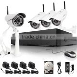 Zmodo cctv design-private outlook mold style network HD 720P H264 wireless NVR kits with 720p night view IP security camera