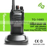 Wireless 8W hands free cheap vhf/uhf walkie talkie Quansheng TG-1680