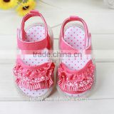 summer red beautiful flat fabric baby girls new sandals