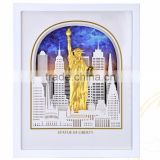 American Statue Of Liberty 3D Gold Foil Leaf Frame Photo The modern Home Decorative Picture