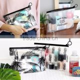 O Ring Plastic Hook Bag for Frosted PVC Cosmetic Bag Organizer Makeup Bag Travel Pouches Bag