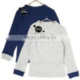 custom logo imprinted boys long sleeve thermal tops boys33