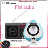 portable rechargeable bluetooth subwoofer speaker with tf card am fm radio