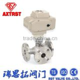 Flange Motorized Three Way Ball Valve for Pipeline