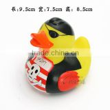 mini plastic rubber duck bath floating soft toys pirate duck PVC