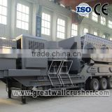 Mobile Crushing Station, Mobile crushing plant for sale, Mobile jaw crushing plant, mobile impact crushing plant