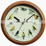 wall clock with singing birds sound