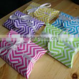 Purple Green blue Yellow Pink Chevron Pillow Boxes Wedding Pillow Gift Boxes for Favours Xmas Party Box Baby Shower