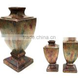 Royal Flower Vase Pot, Decorative Garden Flower Pot, Copper Antique Aluminium Flower Vase for Home & Wedding Decoration